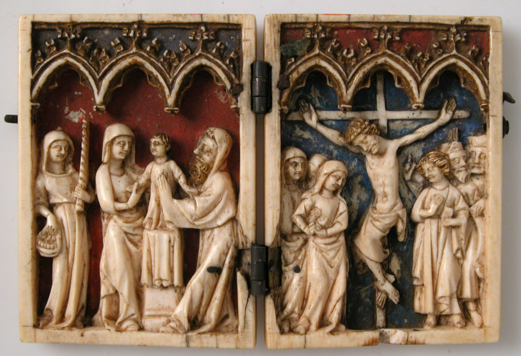 Diptych with Presentation of Christ in the Temple and Crucifixion