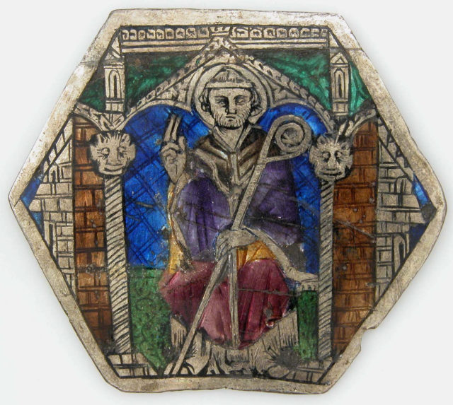 Plaque with a Sainted Bishop