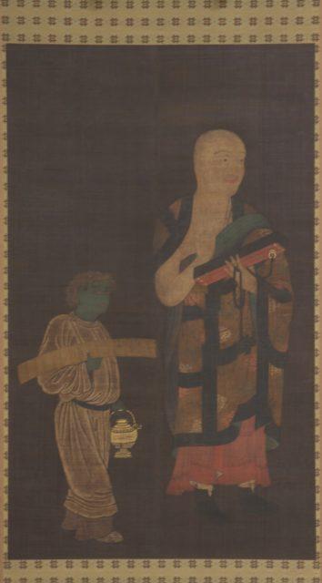 Portrait of Xuanzang (Genjō) with Attendant
