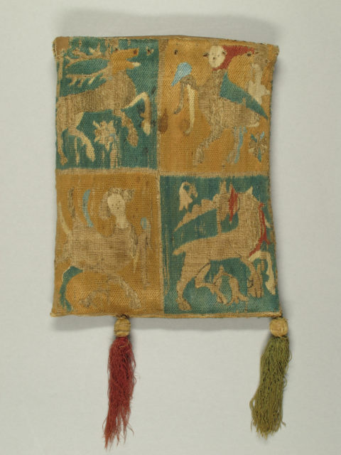 Purse with Two Figures under a Tree