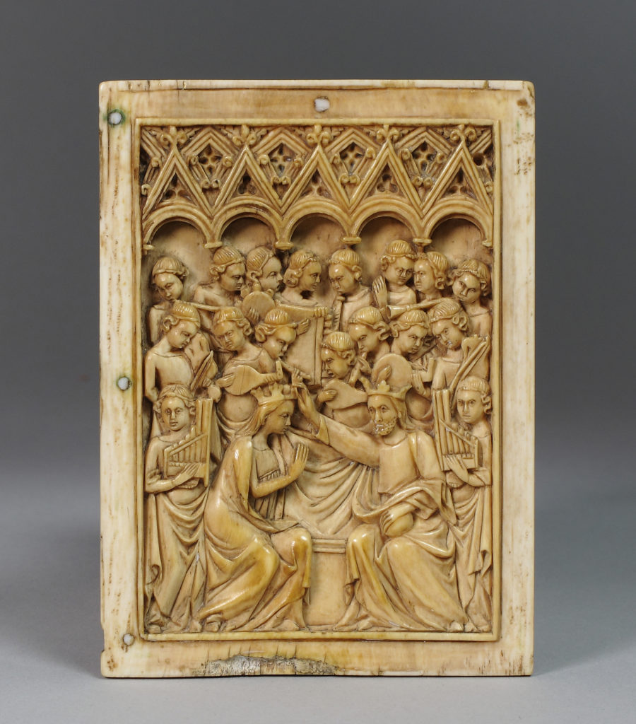 Right Leaf of a Diptych with Coronation of the Virgin