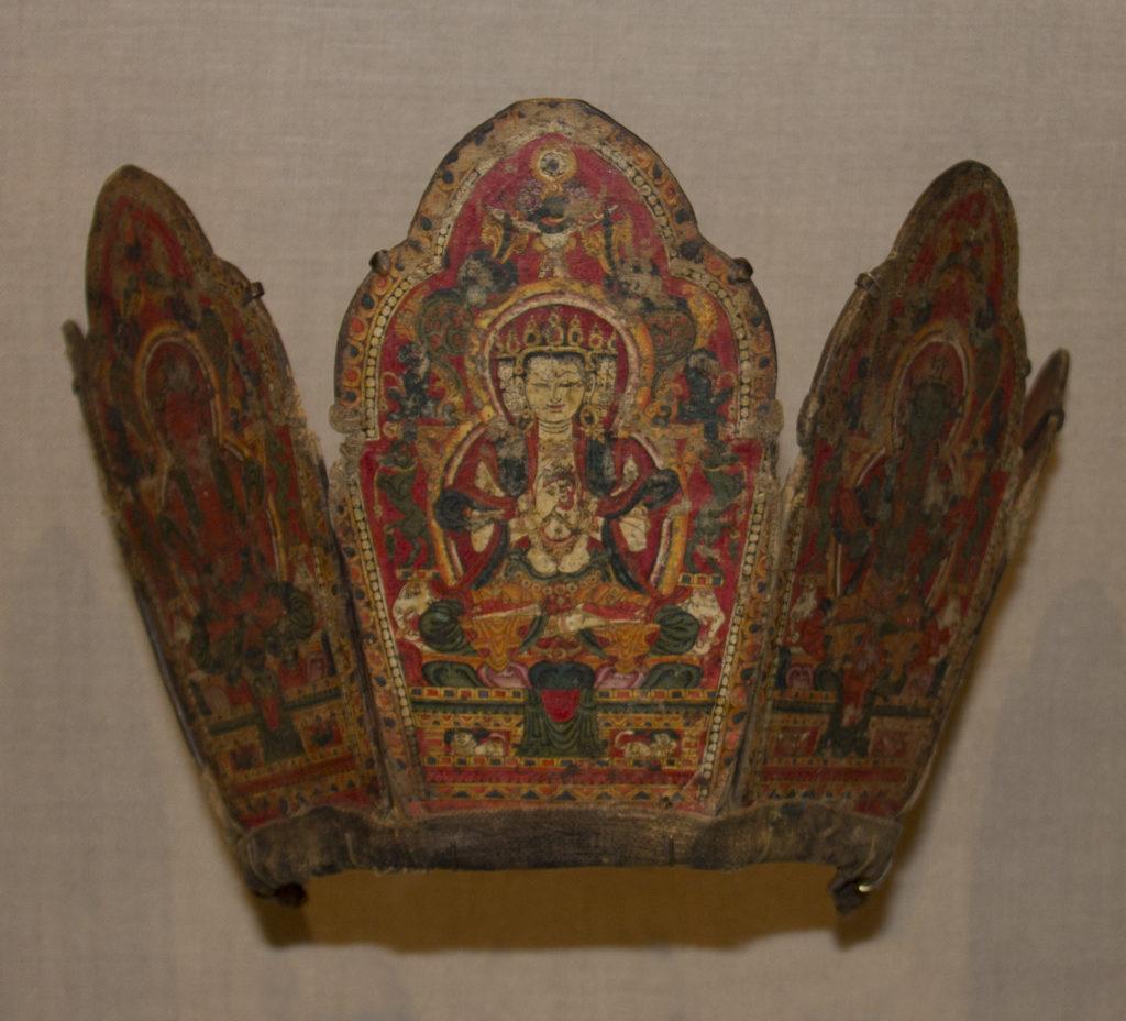 Ritual Crown with the Five Tathagata Buddhas