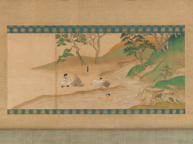Section of Jin'o-ji Engi Emaki (Konin Shonin E- den)