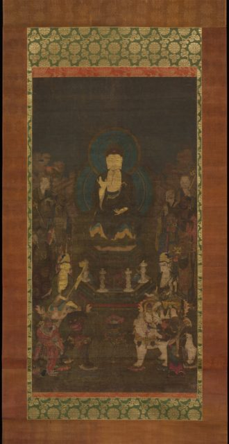 Shaka, Monju, Fugen and the Ten Great Disciples (Jūdai Deshi)