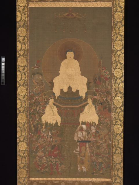 Shakyamuni Triad with the Sixteen Protectors of the Great Wisdom Sutra