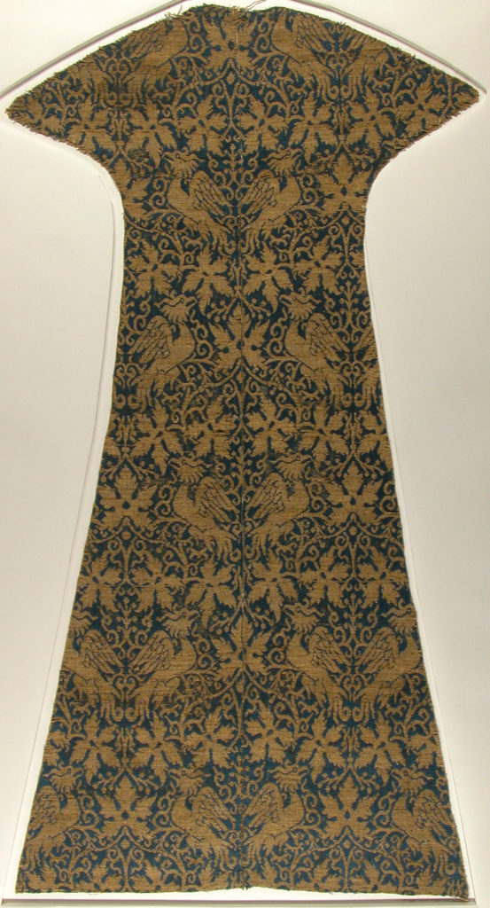 Textile with Birds, Leaves and Arabesques