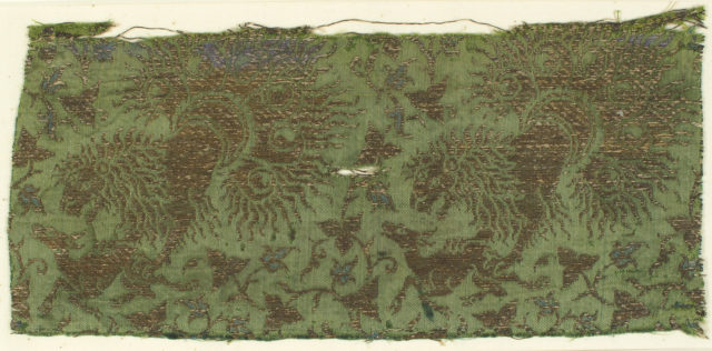 Textile with Lions, Gazelles and Foliage