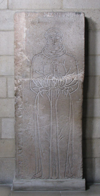 Tomb Slab of a Monk (Father Louis)