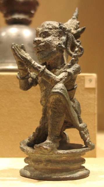 Top of a Bell in the Form of a Kneeling Demon