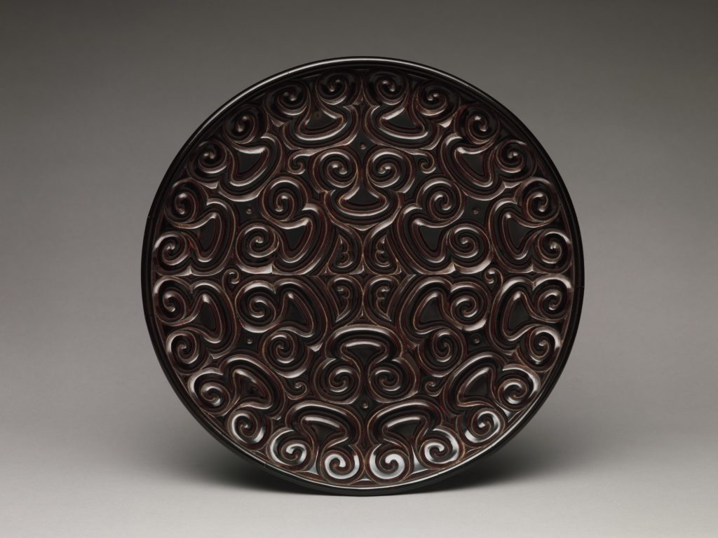 Tray with Pommel Scroll