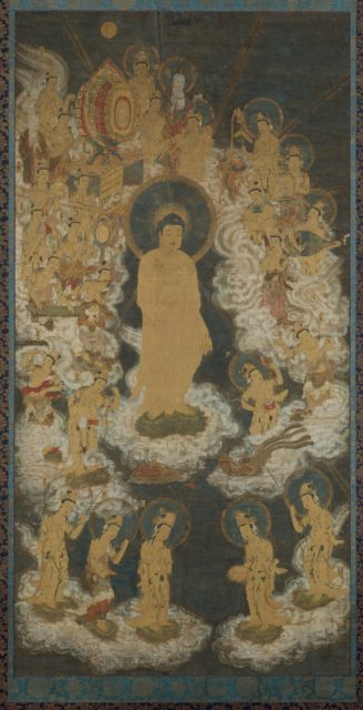 Welcoming Descent of Amida and Bodhisattvas