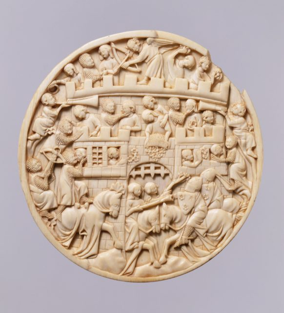 Roundel with Scenes of the Attack on the Castle of Love