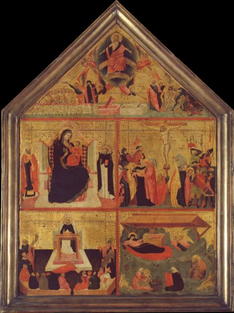 The Last Judgment; The Virgin and Child with a Bishop-Saint and Saint Peter Martyr; The Crucifixion; The Glorification of Saint Thomas Aquinas; The Nativity