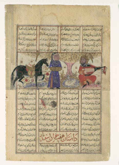 """""""Isfandiyar's Fourth Course: He Slays a Sorceress"""", Folio from a Shahnama (Book of Kings) of Firdausi"""
