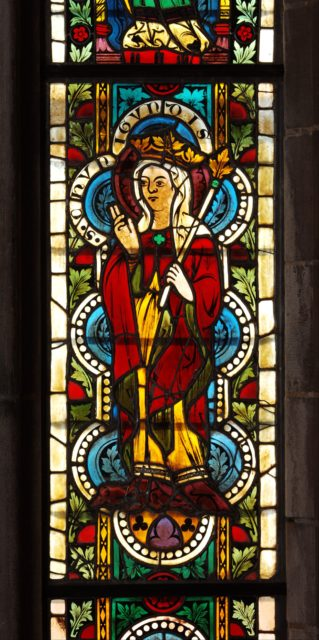 Stained Glass Panel with Queen Kunigunde