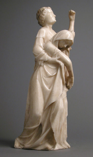 The Virgin Supported by Saint John, from a Crucifixion Group