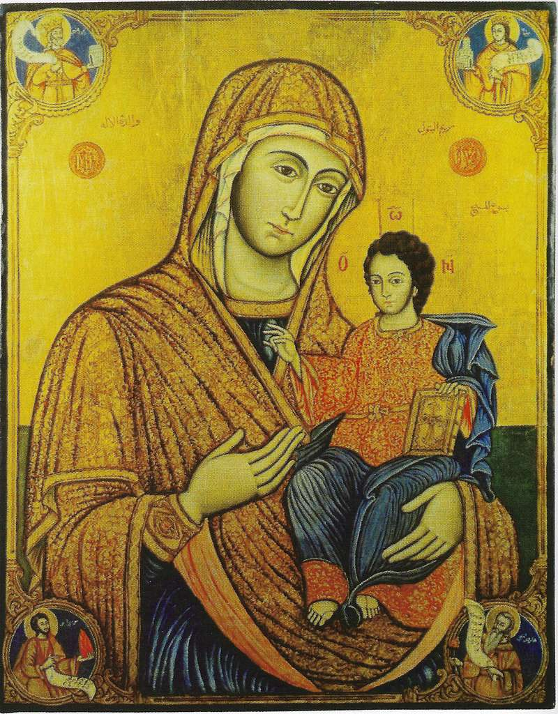 Theotokos icon, Lebanon (14th century)