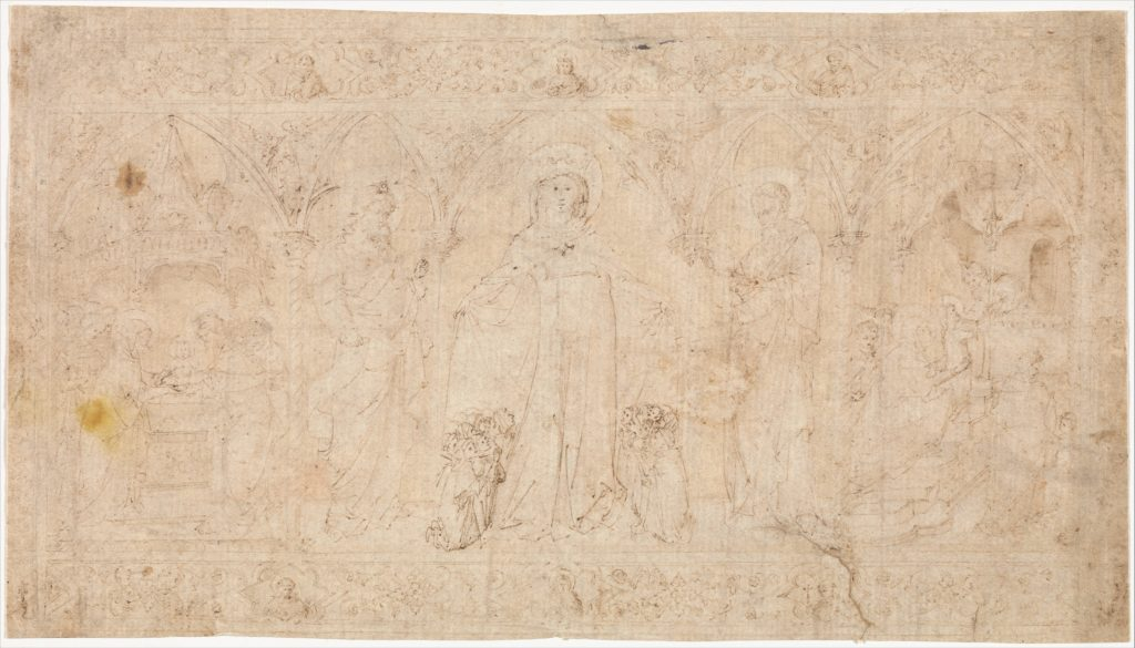 Design for an Antependium: The Madonna della Misericordia with Saints John the Baptist and John the Evangelist, the Circumcision, and the Presentation of the Virgin