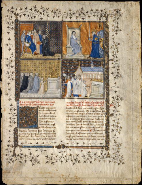 Leaf from a Manuscript of Valerius Maximus