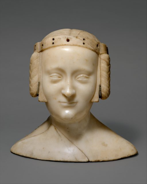 Tomb Effigy Bust of Marie de France (1327-41), daughter of Charles IV of France and Jeanne d'Evreux