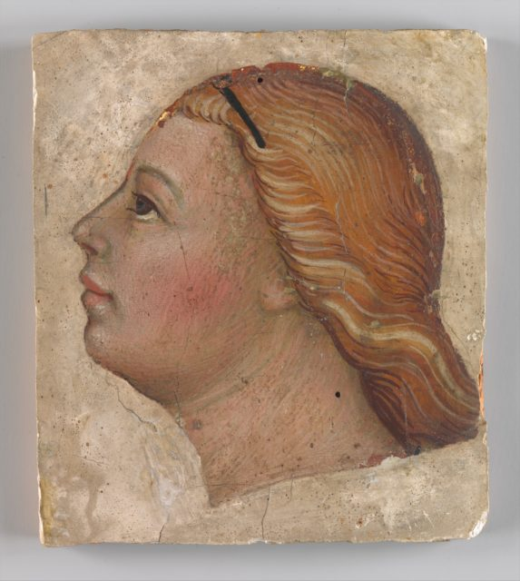 Head of an Angel in Left Profile