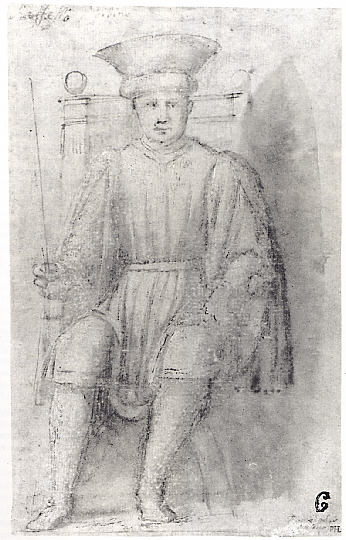 A Man Seated on a Throne