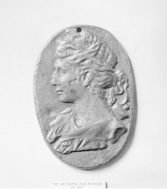 Ancient-style plaquette of Diana