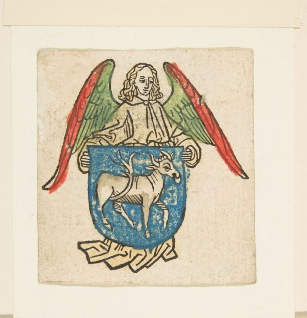 Bookplate of Hilprant Brandenburg (Schr. 2038)