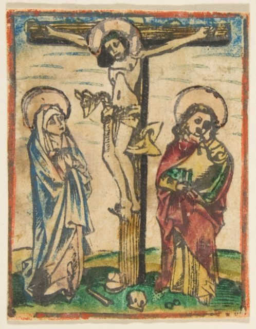 Christ on the Cross with The Virgin and Saint John (Schr. 452c)