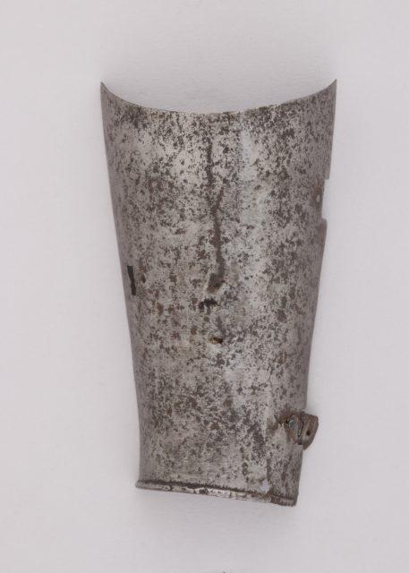 Inner Plate of a Left Forearm Defense (Vambrace)