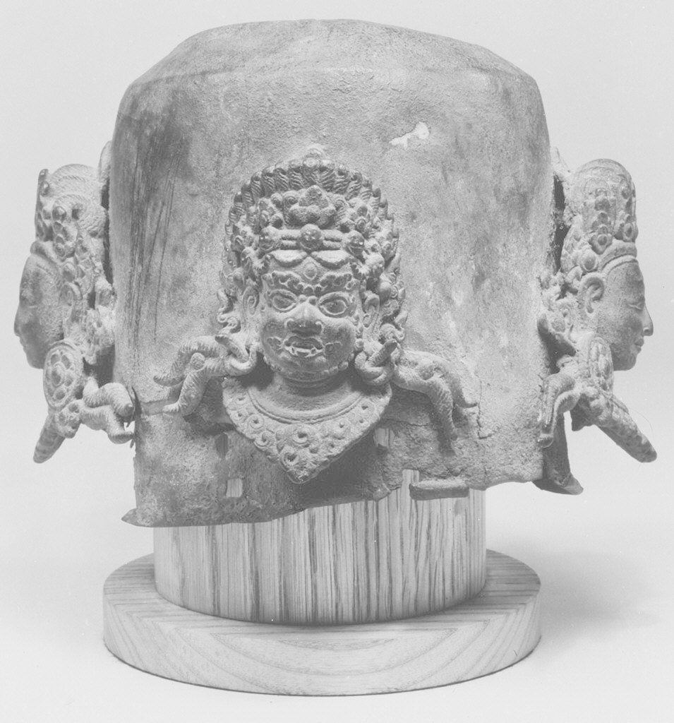 Linga Cover with Four Faces of Shiva (Caturmukhalinga)