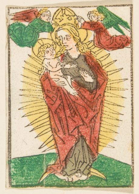 Madonna in Glory Crowned by Angels (Schr. 1113)