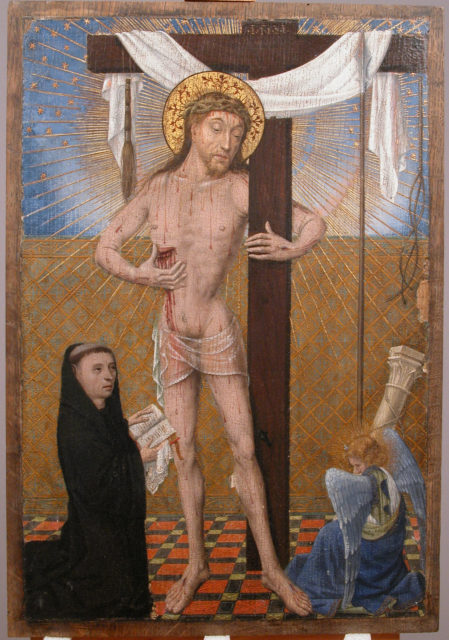 Man of Sorrows with Kneeling Donor