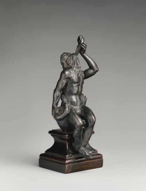 Neptune Seated on a Marine Monster and Blowing a Conch Shell