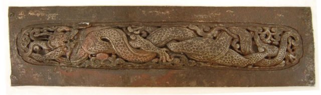 Pair of Plaques with Dragons