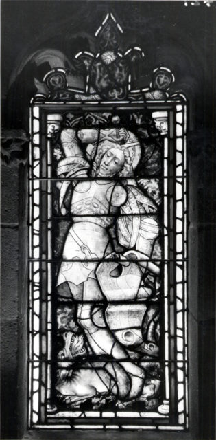 Panel with Saint George and the Dragon