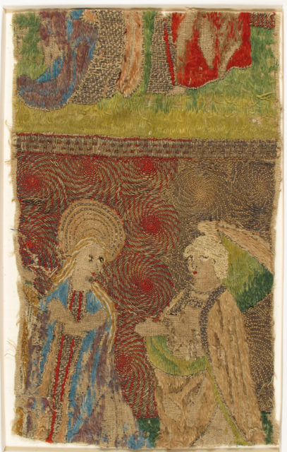 Panel with the Virgin and Gabriel Annunciate