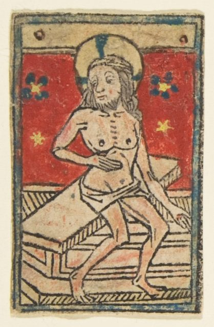 Seated Man of Sorrows (Schr. 910)