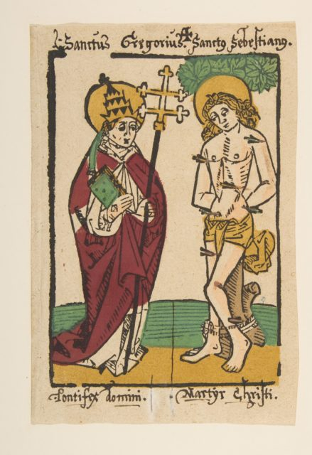 St. Gregory and St. Sebastian (Schr. 1493x)