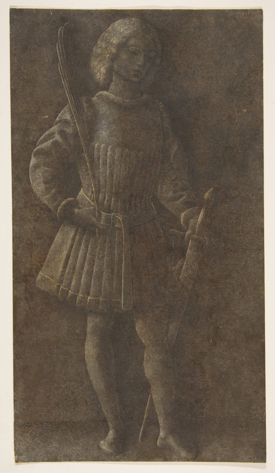 Standing Youth with Sword and Palm Branch