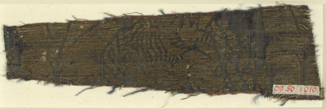 Textile with Lions and Peacocks