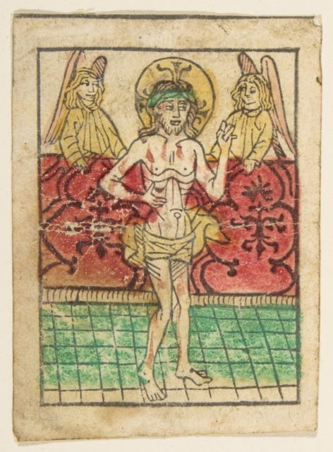 The Man of Sorrows between Two Angels (Schr. 900)