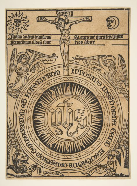 The Sacred Monogram with the Symbols of the Evangelists and the Crucifixion (Schr. 1812)