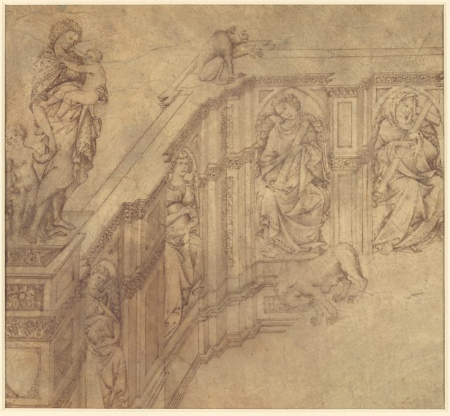 Design Fragment for the Left Side of the 'Fonte Gaia' in Siena