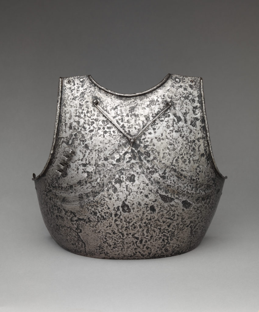 Breastplate with applied stop-ribs