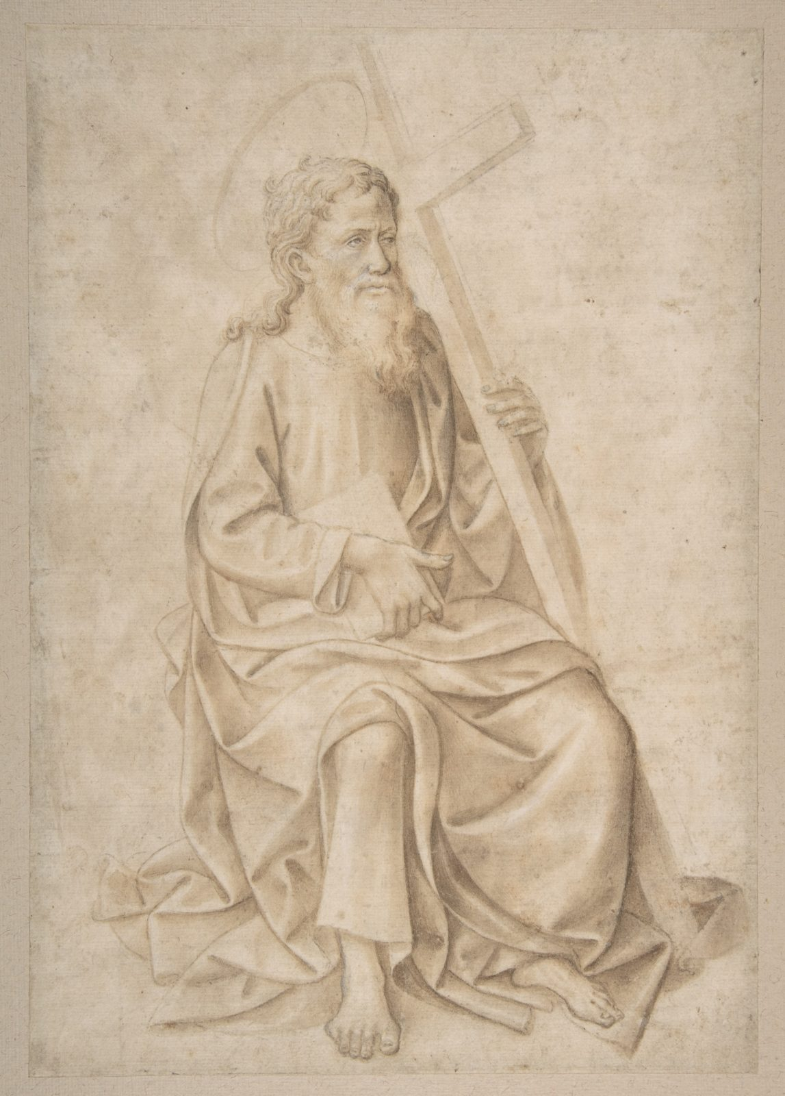 Saint Philip Seated, Holding a Book and a Cross