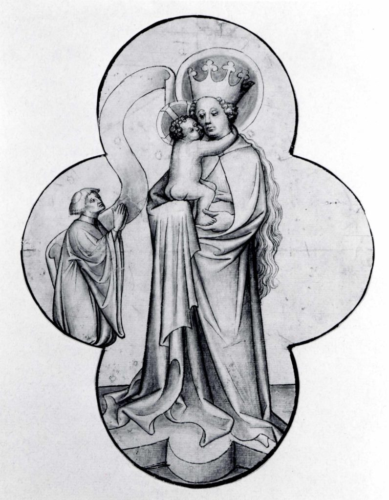 Virgin and Child with a Kneeling Donor, in a Quatrefoil