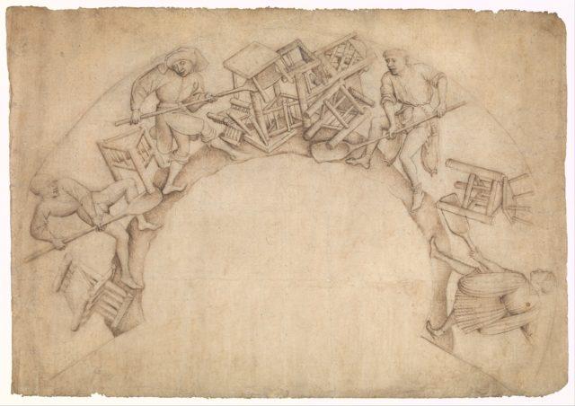 Men Shoveling Chairs (Scupstoel)