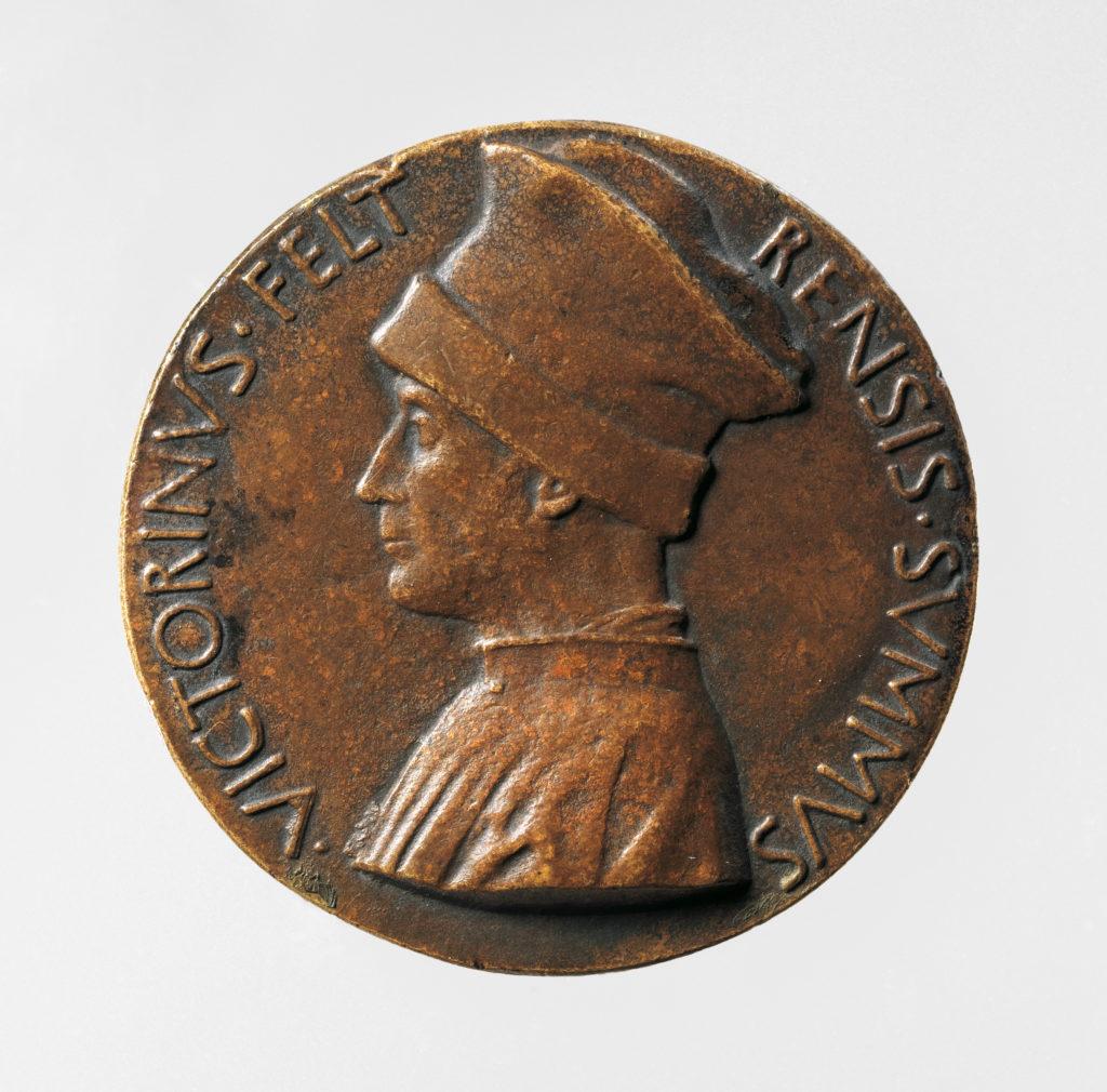 Portrait medal of Vittorino Rambaldoni da Feltre (obverse); A Pelican (reverse)