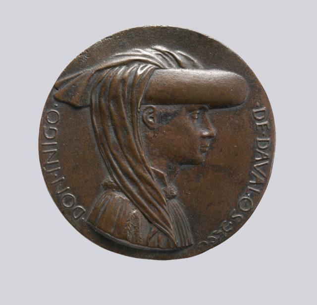 Portrait medal of Don Inigo d'Avalos (obverse); Sphere Representing Earth, Sea, and Sky (reverse)